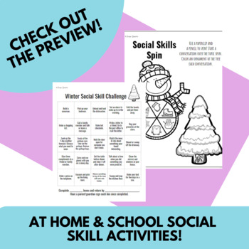 Winter Language Activities | Social Skills Included