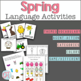 Spring Speech Therapy Language Activities for K 1