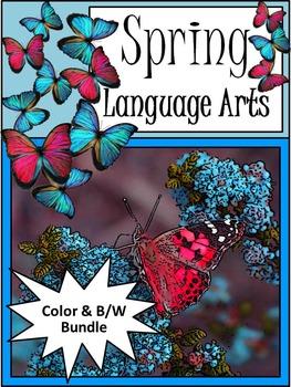 Spring Language Arts Activity Packet Bundle