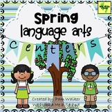 Spring Language Arts Centers for 1st and 2nd Grade