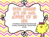 Spring Language Arts and Math Centers for Big Kids