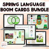 Spring Language Boom Card Bundle | Describing, WH Questions, & More!