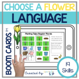 Spring Language Boom Cards™️ for Speech Therapy Flowers an
