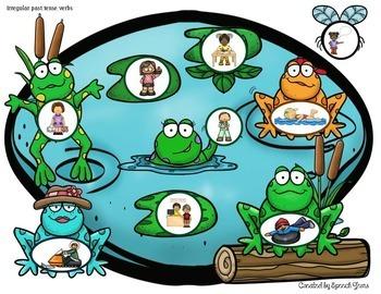 Spring Frog Pond Language Dough Smash Mats