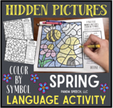 Spring Color by Symbol Hidden Images Language: Speech Therapy Activity