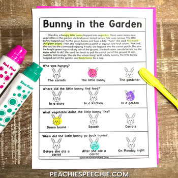 Spring Language Pack: Bunnies and Carrots