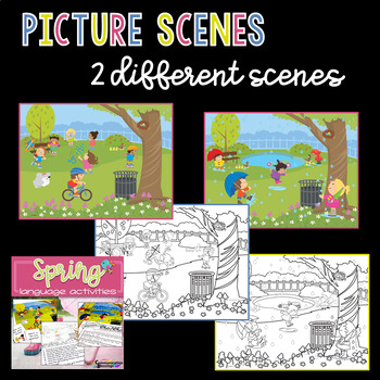 Spring Language Scene Activities for Speech Therapy