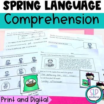 Spring Language Set-Sequencing,Comprehension, Sentences, Growing a Plant