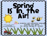 Spring Language activities and games, for speech language therapy or centers