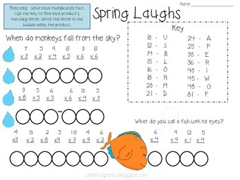 Spring Laughs: Multiplication Fact Practice