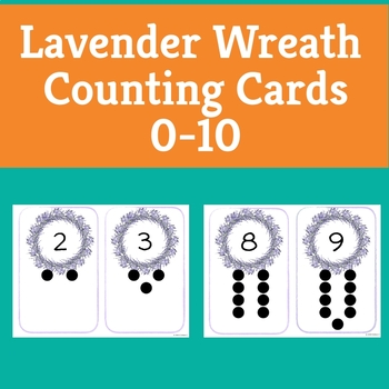 Spring Lavender Wreath Counting Cards 0-10 - Toddlers through Kindergarten