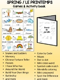 Spring / Le printemps FRENCH Games & Mini activity book Combo
