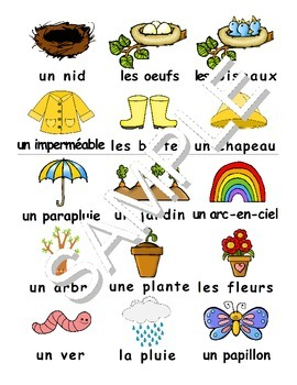 Spring / Le printemps FRENCH Workbook & Games Package