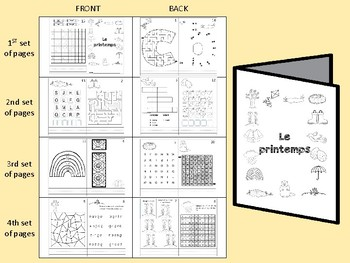 Spring / Le printemps - FRENCH - activity booklet