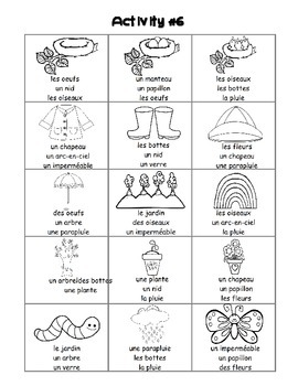 Spring / Le printemps French Worksheets