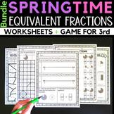 Spring Fractions Equivalent Fraction Worksheets
