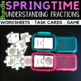 Spring Learning Fractions Worksheets