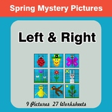 Spring: Left & Right side - Color by Emoji - Mystery Pictures