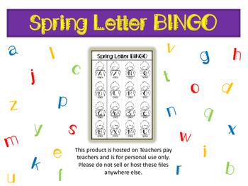Spring Letter Bingo