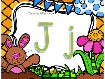 Spring Letter Formation Mats