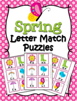 Spring Letter Match Puzzles