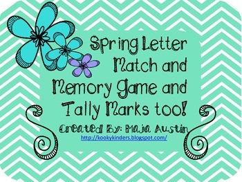 Spring Letter Match and Tally Marks Too!