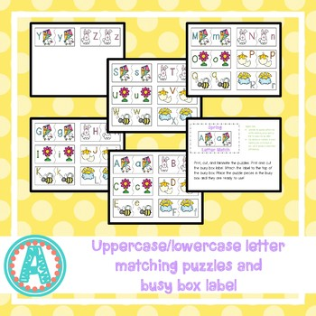 Spring Letter Matching Busy Box