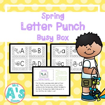 Spring Letter Punch Busy Box