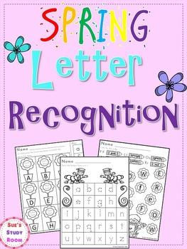 Spring Letter Recognition for PreK and K
