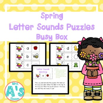 Spring Letter Sounds Puzzles Busy Box