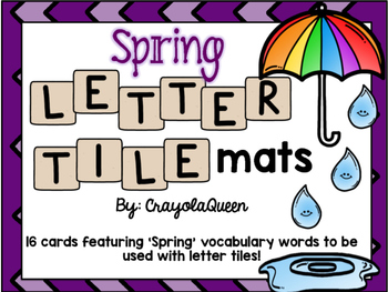 Spring Letter Tile Mats