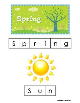 Spring Letter Tile Printables