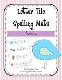 Spring Letter Tiles Spelling Mat