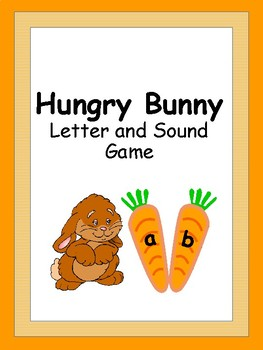 Spring Letter and Sound Game - {Hungry Bunny}