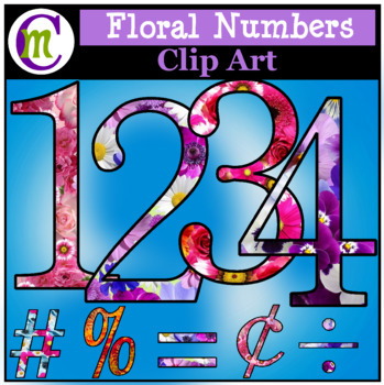 Spring Lettering Clip Art Numbers CM