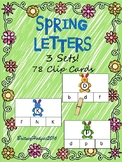 Spring Letters Clip Cards: Uppercase and Lowercase!!