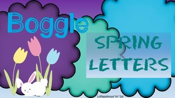 Spring Letters for Boggle