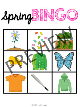 Spring Leveled Bingo Game for Special Education and Autism