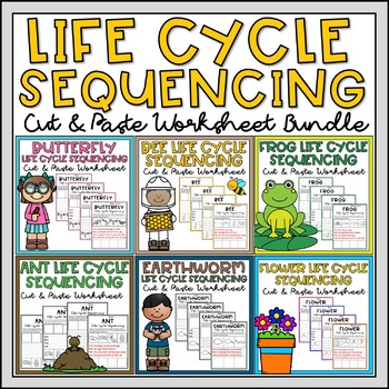 Spring Life Cycle Sequencing & Writing Bundle