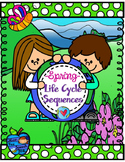 Spring Life cycles Sequencing Speech and Language Worksheets