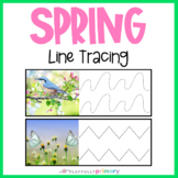 Spring Line Tracing | March Fine Motor Pre-Writing Pencil Control Practice