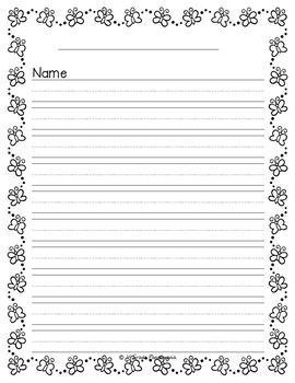 Spring Writing Paper {Primary Grades}