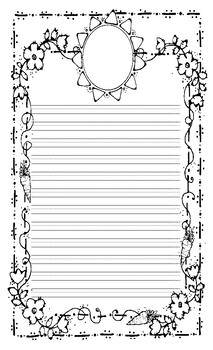 Spring Lined Writing Paper