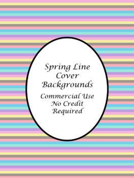Spring Lines TpT Cover Page Backgrounds-Commercial Use