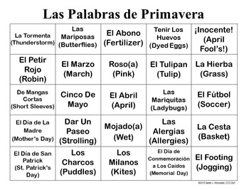 Spring Lingo - Spanish Edition