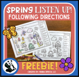 Spring Listen Up! Following Directions FREEBIE
