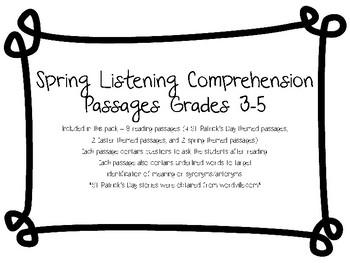Spring Listening Comprehension