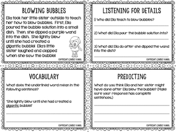 Spring Listening for Details, Vocabulary, and Predicting