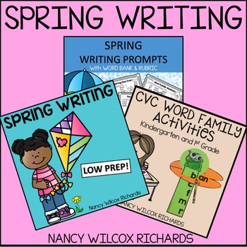 Spring Writing Activities Prompts And Word Work With Cvc Worksheets