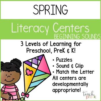 Spring Literacy Bundle for Preschool, PreK, K & Homeschool